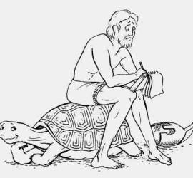 achilles and the tortoise essay Thus, if achilles and the tortoise are moving towards an agreement on how to split a drachma, they need to agree first on how to divide half of it but then they face a similar division problem of the remaining half.